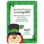 Leprechaun St. Patrick's Day Birthday Invitation