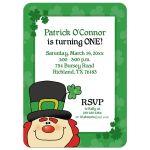 Leprechaun St. Patrick's Day Birthday Invitation