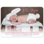 Watercolor Typography Baby Birth Announcements front