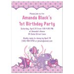 Under the sea, ocean themed photo girl's 1st birthday party invitation back
