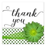 Green Mum With Sparkly Glitter Polka Dots Thank You Gift Tag