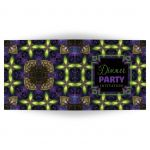 Fractal Tapestry Dinner Party Invitation