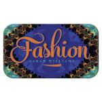 Aqua Blue Orange Batik Tropical Business Card