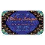 Aqua Blue Orange Batik Tropical Business Card