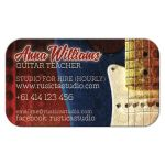 Red Blue Electric Guitar Music Business Card