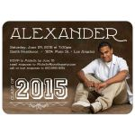 Contemporary Typography Photo Graduation Party Invitation