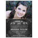 Graduation Photo Announcement - Chalkboard Class Banner