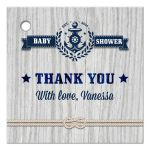 Gift Favor Tag - Nautical Rustic Weathered Wood Baby Shower