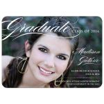 Graduation Announcement Photo Card - Elegant Script Class