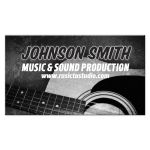 Acoustic Guitar Music Business Card
