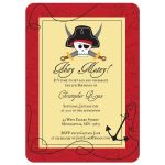 Pirate boy's birthday party invite
