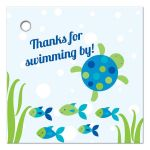 Under the sea boy birthday thank you favor gift tag