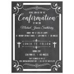 Trendy Chalkboard Typography Baby Shower Invitation