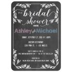 Trendy Chalkboard Typography Bridal or Couples Shower Invitation