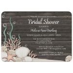 Bridal Shower Invitations - Rustic Beach and Wood