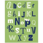 Alligator ABC Nursery Print 11x14
