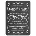 Modern Flourish Chalkboard Typography Wedding Invitation