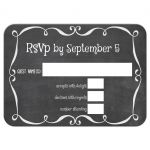 Modern Flourish Chalkboard Typography Wedding Response Card