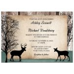 Wedding Invitations - Deer Rustic Woodsy