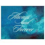 Wedding RSVP Reply Card - Always and Forever Teal Watercolor Wash