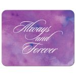 Wedding RSVP Reply Card - Always and Forever Purple Watercolor Wash