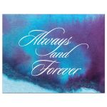 Wedding RSVP Reply Card - Always and Forever Blue Purple Watercolor Wash