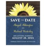 Save the Date Cards - Rustic Sunflower and Blue