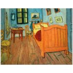 11x14 Wall Art Featuring Van Gogh's Bedroom in Arles