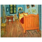 8x10 Wall Art Featuring Van Gogh's Bedroom in Arles