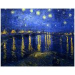 11x14 Wall Art Featuring Van Gogh's Starry Night Over the Rhone