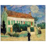 8x10 Wall Art Featuring Van Gogh's White House at Night