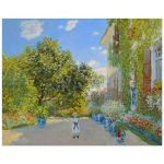 8x10 Wall Art Featuring Monet's The Artist's House at Argenteuil