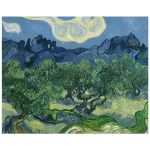 8x10 Wall Art Featuring Van Gogh's Olive Trees with the Alpilles