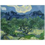 11x14 Wall Art Featuring Van Gogh's Olive Trees with the Alpilles