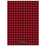 Rustic Red & Black Plaid Stag Bachelor Party Invitations back