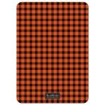 Rustic Orange & Black Plaid Stag Bachelor Party Invitations back