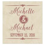 Modern Marsala Typography With Grunge Stamps Custom Wine Label