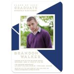 Geometric Graduation Photo Invitation front