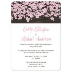 Reception Only Invitations - Cherry Blossom Rustic Wood White