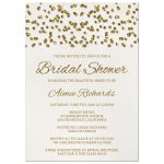 Glamorous Glitter Confetti Bridal Shower Invitations front