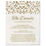 Glamorous Glitter Confetti Wedding Enclosure Cards front