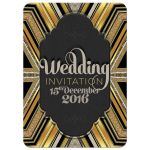 Funky Art Deco Chalkboard Wedding Invitation