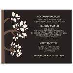Nature Wedding Whispering Tree Accommodations and Details Enclosure card