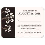 Nature Wedding Whispering Trees RSVP Reply Card