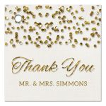 Glamorous Glitter Confetti Wedding Thank You Favor Tags front