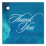 Wedding Thank You Favor Tag - Teal Watercolor Wash