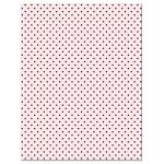 Retro Polka Dots & Flowers Wedding Enclosure Cards back