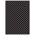 Chic, retro 50s black and white polka dot wedding invitation back