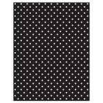 Retro 1950s chic black and white polka dot wedding website rsvp reply card back