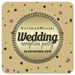 Polka Dot Gem Surprise Wedding Reception